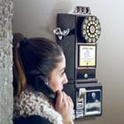 Teléfono,pared,Retro,negro-20263