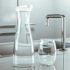 Botella,Basics,1 L,tapón,blanco,acrílico-19337