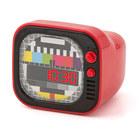 Despertador,TV,rojo,2xAAA-26631