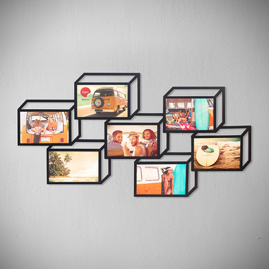 Multiple photo frame tratto 3d 7x 10x15 black balvi for 10x15 room design