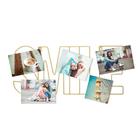 Porta foto,Smile,x5,magnético,dorado-26867