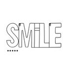 Porta foto,Smile,x5,magnético,negro-26868