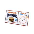 Reloj pared,Hamburgers,metal,1xAA-25833