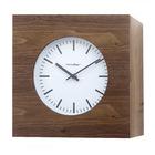 Relojpared&armario,Qubo,roble,madera,1xAA-25977