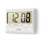 Minutero &reloj,Combi,digital,blanco-26017