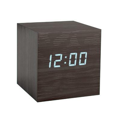 Balvi - Kubo despertador de madera con LED