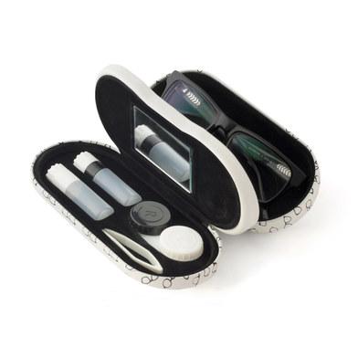 Balvi - Twin estuche para gafas y lentillas con espejo incorporado