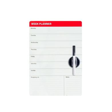 Balvi - Week Planner pizarra magnética para puerta de nevera