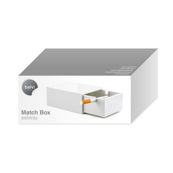 Balvi - Match Box cenicero en forma de caja de cerillas