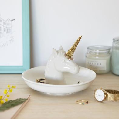 Balvi - Unicorn XL porta anillos de cerámica