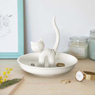 Balvi - Gatto XL porta anelli in ceramica