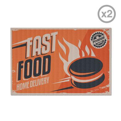 Balvi - Fast Food set de 2 individuales