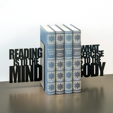 Balvi - Exercise Your Mind metal bookends