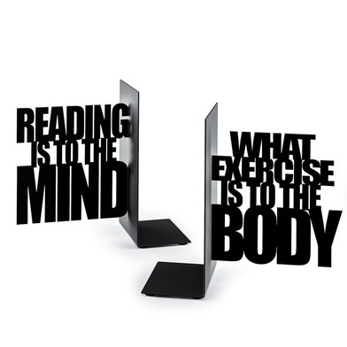 Balvi - Exercise Your Mind sujeta libros de metal