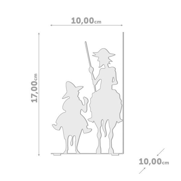 Balvi - Don Quijote sujeta libros de metal