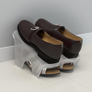 alvi Zapatero 2x Color traslúcido Soporte almacenaje zapatos para 2 pares de zapatos Utensilio hogar