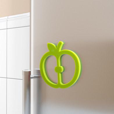 alvi Salvamanteles Fresh Fruit Color verde salvamanteles de silicona individual en forma de manzana