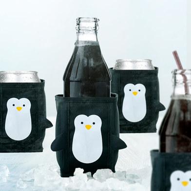 Balvi - Penguin enfriador de latas, enfriador de cerveza, enfriador de bebidas