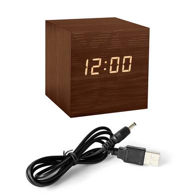 Balvi - Kubo despertador digital de madera