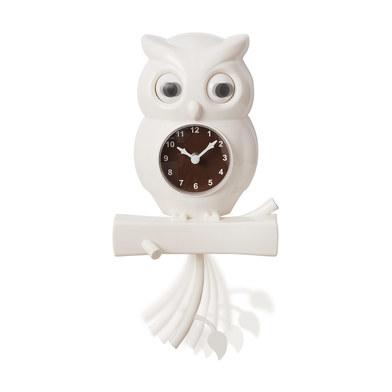 Balvi - Uhu reloj de pared con forma de búho