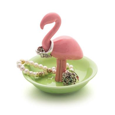 Balvi - Support à bagues Flamingo en forme de flamant rose