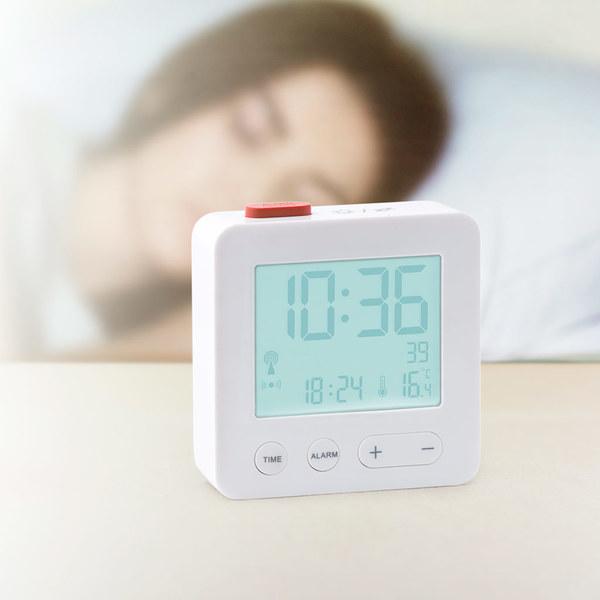 Balvi - Lucid despertador radiocontrolado de diseño simple y elegante
