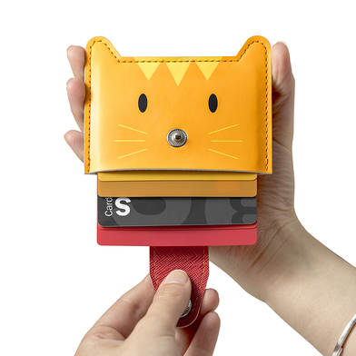 Balvi - Zoo-wallet 5 cards credit card holder in the shape of a cat
