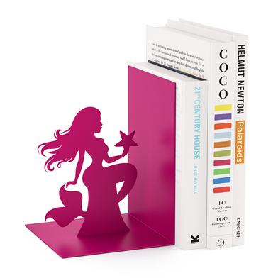 Balvi sujeta libros Siren Color rosa En forma de sirenita Metal 17 cm