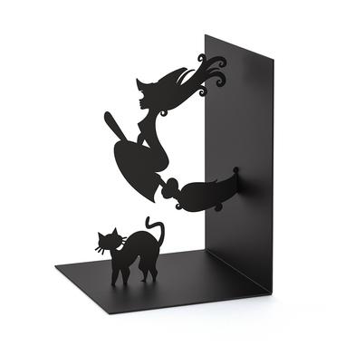 Balvi sujeta libros Magic Color negro En forma de bruja Metal 17 cm