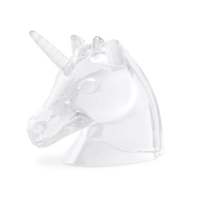 Balvi portaocchiali Unicorn Colore trasparente A forma di testa di unicorno Polyresin