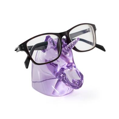 Balvi soporte gafas Unicorn Color púrpura En forma de cabeza de unicornio Polyresina