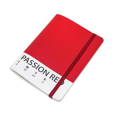 Balvi libreta CMYK Rojo Libreta de 70 páginas tamaño A6 Cierre de goma elástica Papel 15 x 10,5 cm