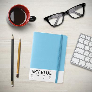 Balvi libreta CMYK Azul Libreta de 70 páginas tamaño A6 Cierre de goma elástica Papel 15 x 10,5 cm