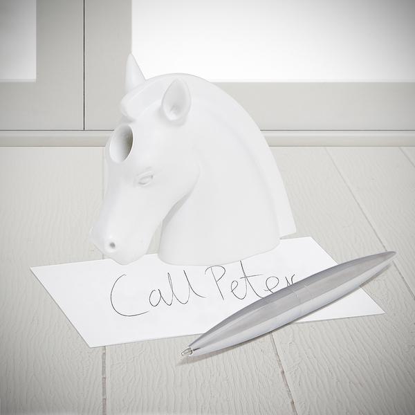Balvi bolígrafo & pisapapeles Unicorn Color blanco En forma de unicornio Resina