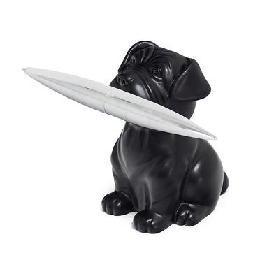 Balvi bolígrafo & pisapapeles Woof! Color negro En forma de perro Resina