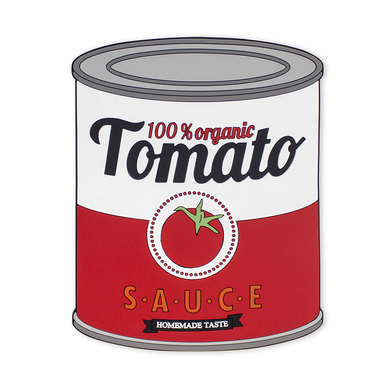 alvi salvamanteles Tomato Sauce En forma de bote de conserva Al ser magnético se adhiere a superfici