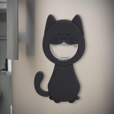 Balvi abrebotellas Katy Color gris En forma de gato Magnético Plástico PVC/metal