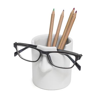 alvi portalápices & soporte gafas Mr Tidy Color blanco Mantén tus gafas ordenadas en tu casa y ofici