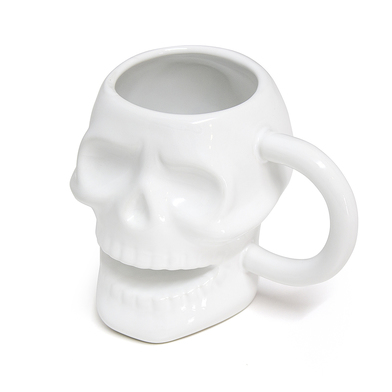 alvi mug Skully Color blanco En forma de calavera Capacidad: 320 ml Apta para lavavajillas y microon
