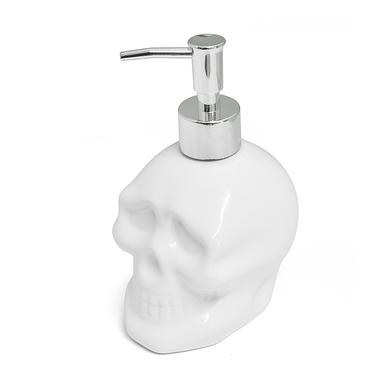 Balvi dosificadorájabón Skully Color blanco En forma de calavera Cerámica 400ml
