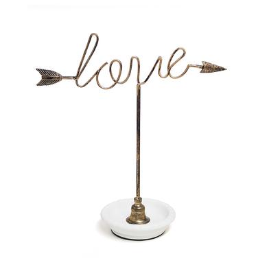 Balvi Support bijoux Cupid céramique à base 31cm Métal