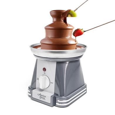 alvi Fuente chocolate American Dream Color gris Función cascada o solo calentador Compacta, fácil de