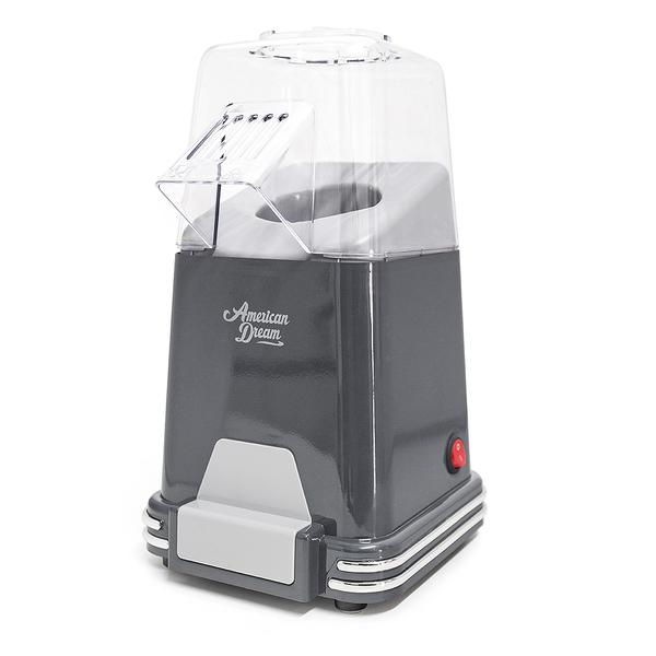 alvi Máquina palomitas American Dream Color gris Palomitero de cocción por aire caliente, sin grasas