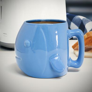 alvi taza Fish Color azul Taza con forma de pez y gran capacidad Apta para lavavajillas y microondas