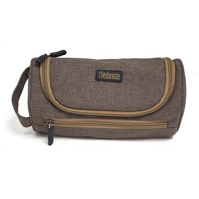 alvi neceser l'Hédoniste Color marrón Neceser de viaje con doble cremallera, bolsillo interior y gan