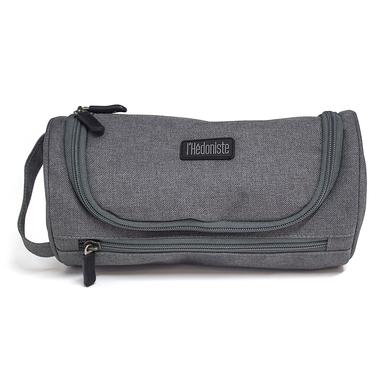 alvi neceser l'Hédoniste Color gris Neceser de viaje con doble cremallera, bolsillo interior y ganch