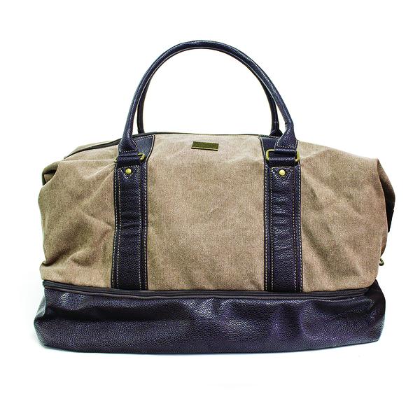 alvi sac de voyage l'Hédoniste Couleur marron Avec compartiment à chaussures séparé Toile/polyester/