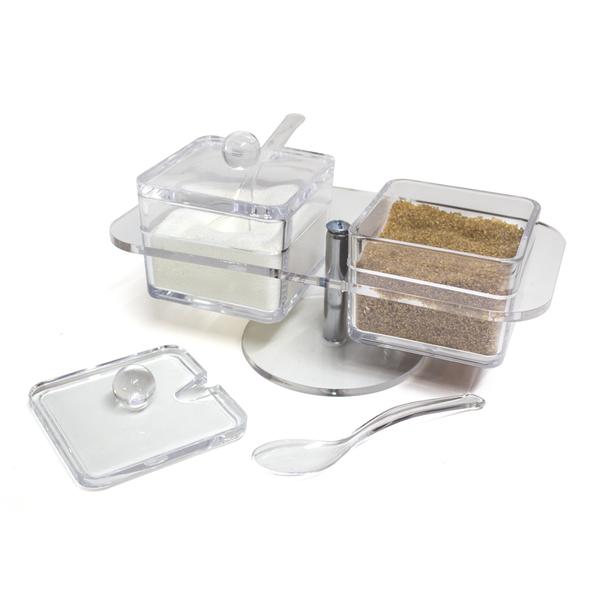 Balvi azucarero doble Basics Color transparente Con dos compartimentos Acrílico