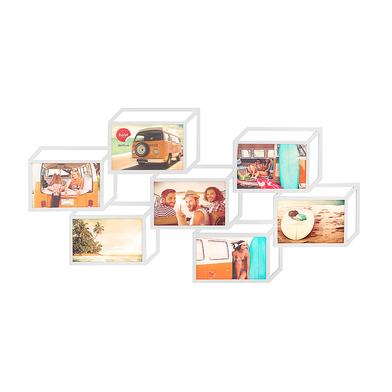 Balvi marco múltiple Tratto Color blanco Marco para 7 fotos de 10x15 cm Marco de pared Madera DM
