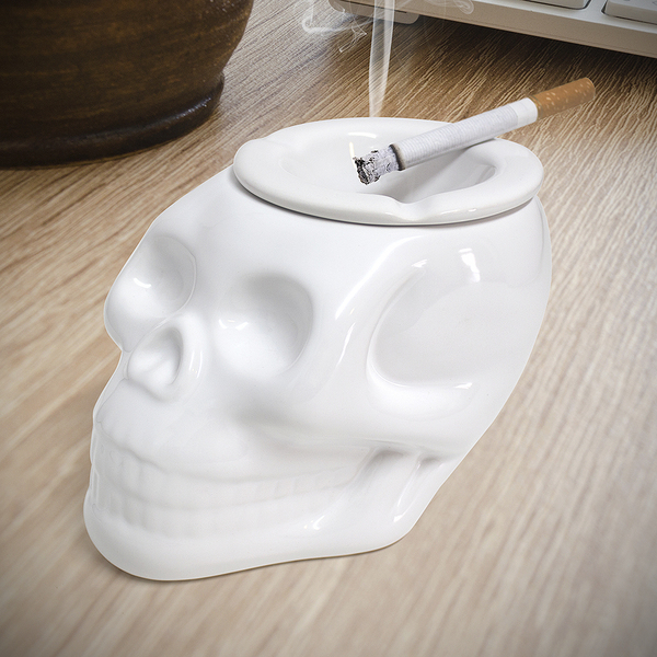 Balvi Cenicero Skully Color blanco En forma de calavera Cerámica